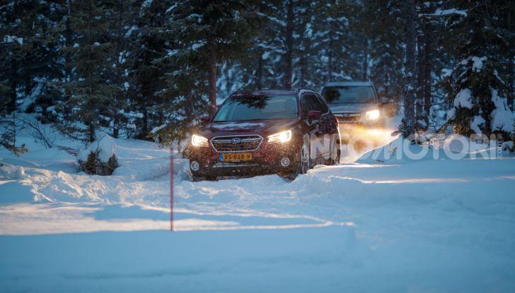 Gamma Subaru provata su strada e neve in Finlandia - Foto 23 di 28