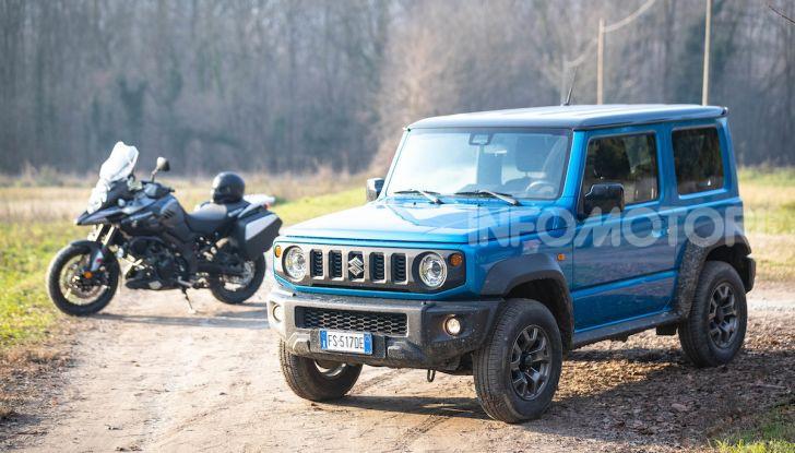 Suzuki Jimny VS V-Strom 1000 XT: il DNA dell'avventura - Foto 8 di 11