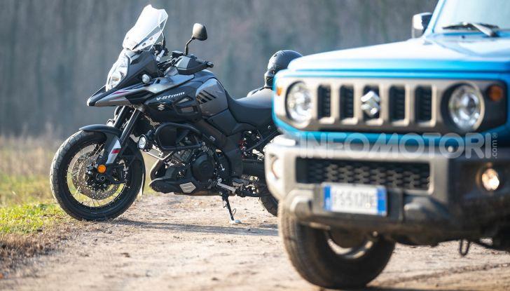 Suzuki Jimny VS V-Strom 1000 XT: il DNA dell'avventura - Foto 2 di 11