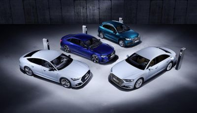 Audi A8, A7 Sportback, A6 e Q5 anche in versione ibrida plug-in