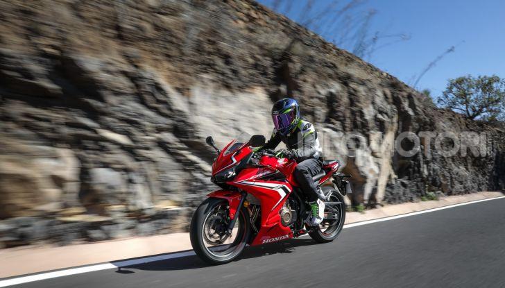 Prova Honda CBR500R e CB500F 2019: caratteristiche, opinioni e prezzi - Foto 111 di 123