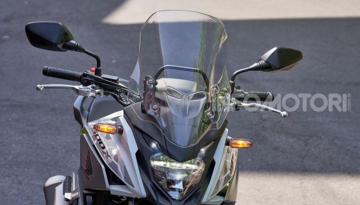 Prova Honda CB500X 2019: 19″ all'anteriore, caratteristiche, prezzo e impressioni - Foto 13 di 42