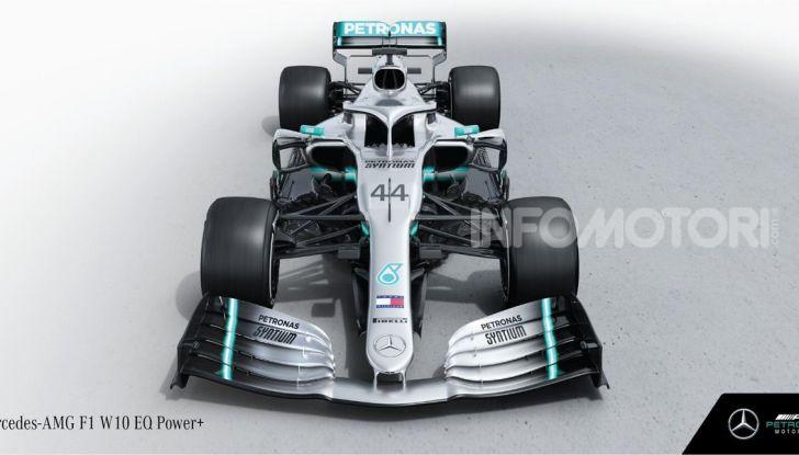 F1 2019: svelata la nuova Mercedes W10 - Foto 10 di 12