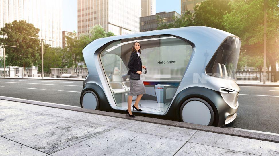 Bosch presenta al CES lo shuttle per la mobilità del futuro