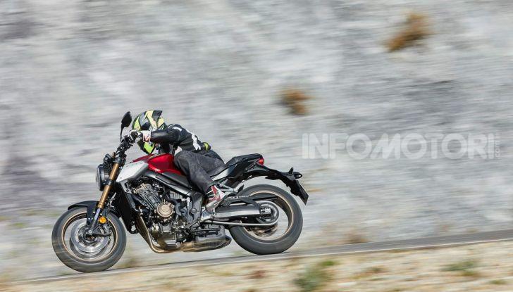 Prova su strada Honda CB650R e CBR650R 2019, caratteristiche, prezzi ed opinioni - Foto 28 di 78