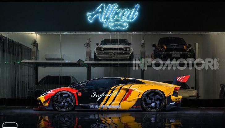 Lamborghini Aventador Liberty Walk, tuning da auto da corsa - Foto 2 di 10