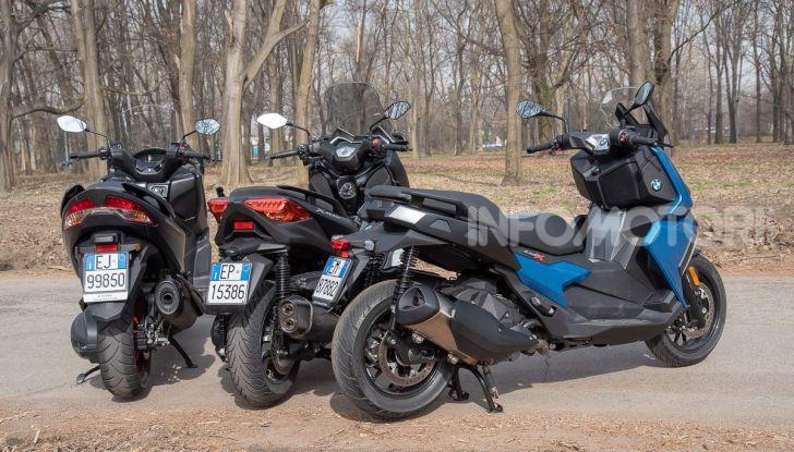 Comparativa scooter 400: Suzuki Burgman, Yamaha XMAX e BMW C400X - Foto 31 di 61