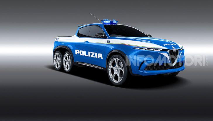 Alfa Romeo Tonale, ecco il Pick-Up della Polizia di Nikita - Foto 1 di 4
