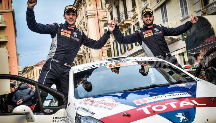Ciuffi (Peugeot 208 R2B ufficiale) molto contento della vittoria a Sanremo - Foto 2 di 2
