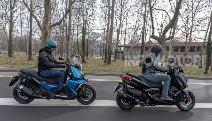 Confronto scooter 400: Bmw C400X e Yamaha XMAX 400 Iron Max - Foto 40 di 48