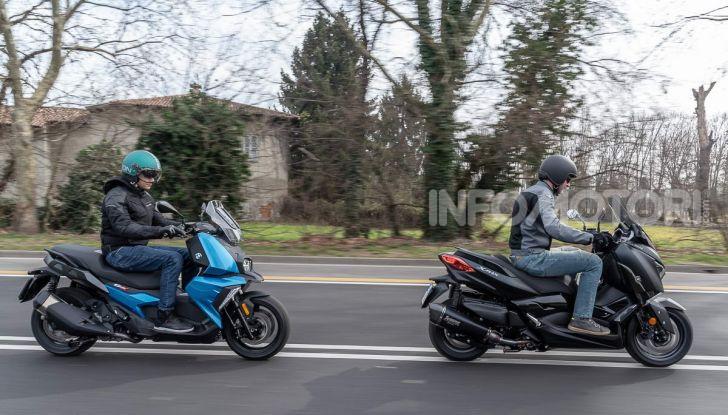 Confronto scooter 400: Bmw C400X e Yamaha XMAX 400 Iron Max - Foto 41 di 48
