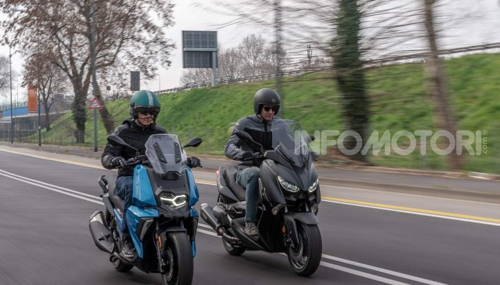 Confronto scooter 400: Bmw C400X e Yamaha XMAX 400 Iron Max - Foto 45 di 48