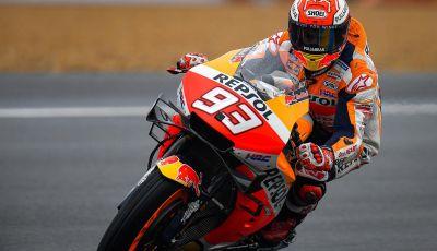 MotoGP 2019 GP di Francia a Le Mans, qualifiche: Marc Marquez svetta sotto la pioggia davanti alle Ducati ufficiali, Rossi quinto