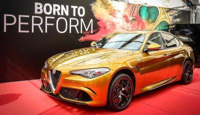 Un'Alfa Romeo Giulia Quadrifoglio d'oro per celebrare la Mille Miglia 2019