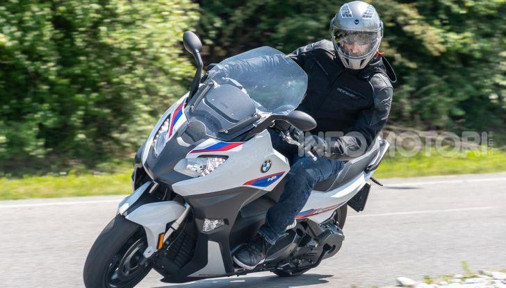 BMW C 650 Sport posizione di guida