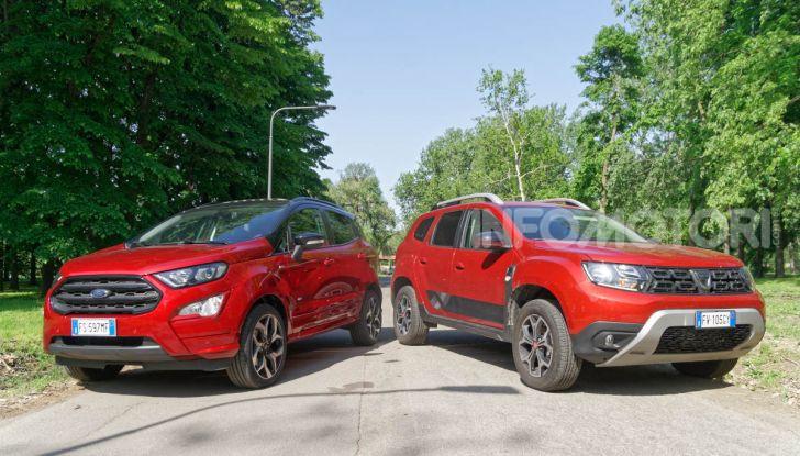 Prova doppia tra SUV best seller: Dacia Duster e Ford EcoSport - Foto 1 di 47