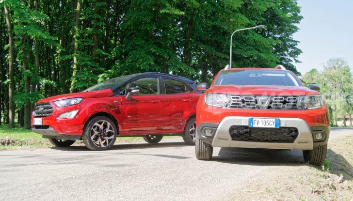 Prova doppia tra SUV best seller: Dacia Duster e Ford EcoSport - Foto 9 di 47