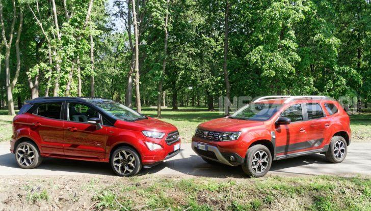 Prova doppia tra SUV best seller: Dacia Duster e Ford EcoSport - Foto 17 di 47