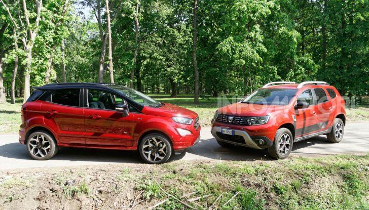 Prova doppia tra SUV best seller: Dacia Duster e Ford EcoSport - Foto 18 di 47