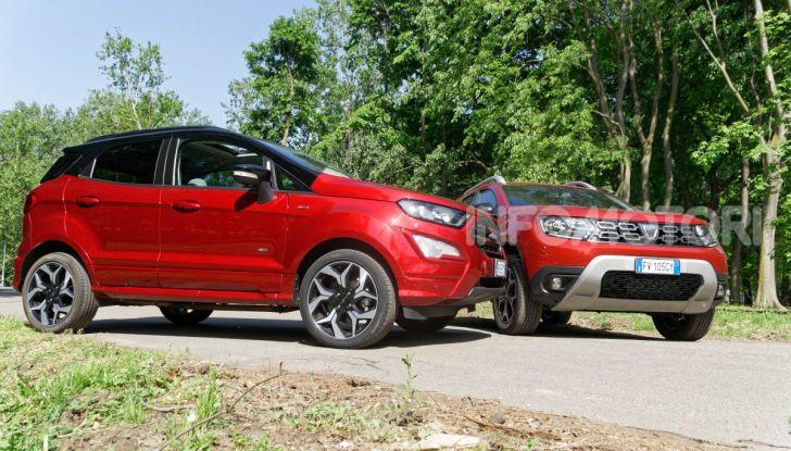 Prova doppia tra SUV best seller: Dacia Duster e Ford EcoSport - Foto 28 di 47