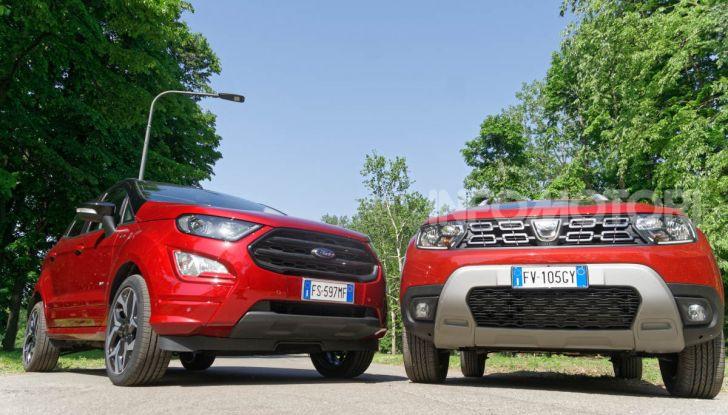 Prova doppia tra SUV best seller: Dacia Duster e Ford EcoSport - Foto 29 di 47
