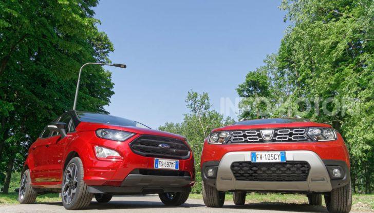 Prova doppia tra SUV best seller: Dacia Duster e Ford EcoSport - Foto 30 di 47
