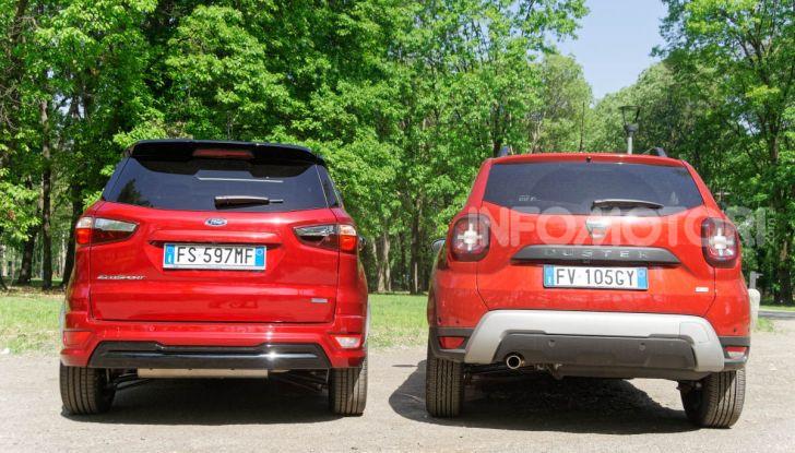 Prova doppia tra SUV best seller: Dacia Duster e Ford EcoSport - Foto 33 di 47