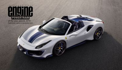 Motore Ferrari V8 per la 4° volta International Engine & Powertrain of the Year