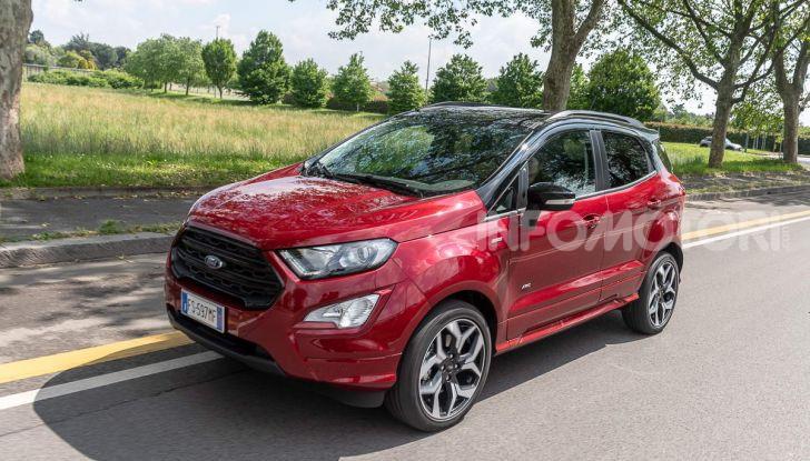Prova Ford EcoSport 2019, il rinnovato B-SUV dell'ovale blu alla conquista dell'Europa - Foto 12 di 54