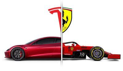 La Tesla Roadster 2 batte la Ferrari F1 2019 in una Drag Race al Sym