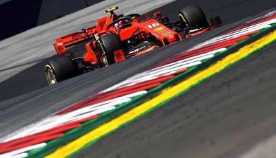 F1 2019 GP Austria, Red Bull Ring: Leclerc e la Ferrari al comando delle libere; Hamilton quarto, Vettel sfiora l'incidente