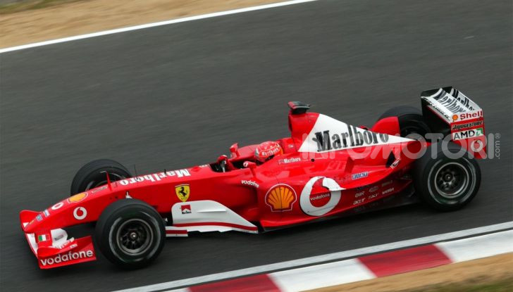 F1: ad Abu Dhabi sarà messa all'asta la Ferrari F2002 di Michael Schumacher - Foto 8 di 10