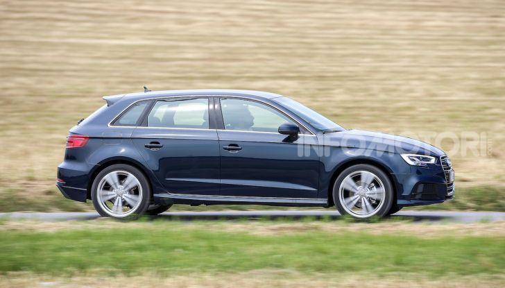 Prova nuova Audi A3 Sportback g-tron 2019: premium a metano! - Foto 7 di 22