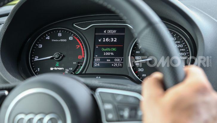 Prova nuova Audi A3 Sportback g-tron 2019: premium a metano! - Foto 22 di 22