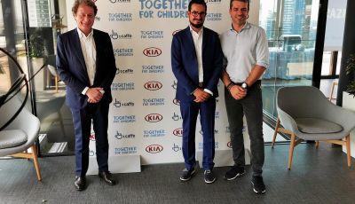 Kia e 1 Caffé Onlus, l'iniziativa per il sociale con Savio e Argentero