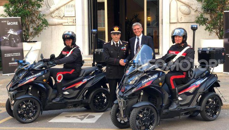 Due Qooder in regalo per i Carabinieri di Milano - Foto 2 di 5