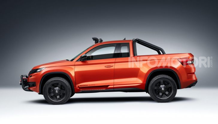 Skoda Mountiaq, pick-up con aria da SUV - Foto 2 di 10