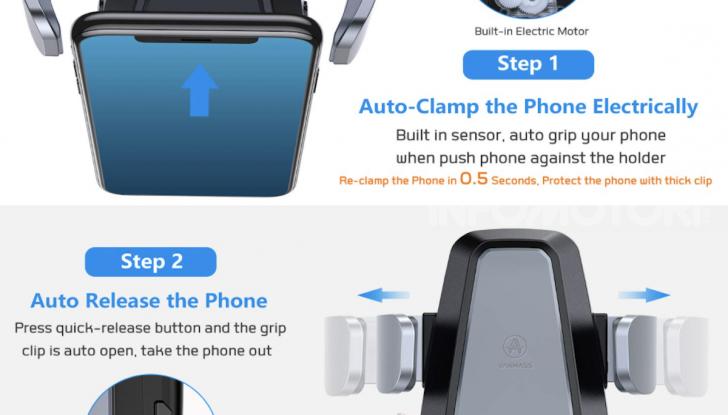 Vanmass Wireless Car Charger Mount: il supporto da auto che ricarica lo smartphone - Foto 1 di 5