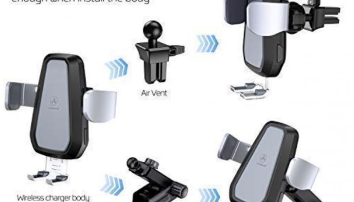 Vanmass Wireless Car Charger Mount: il supporto da auto che ricarica lo smartphone - Foto 3 di 5