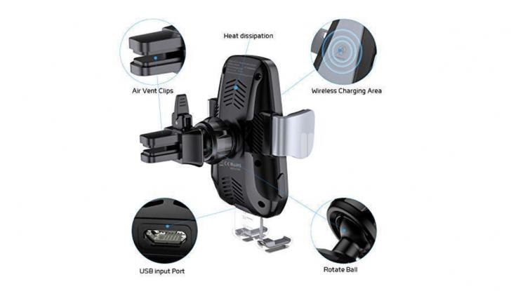 Vanmass Wireless Car Charger Mount: il supporto da auto che ricarica lo smartphone - Foto 4 di 5