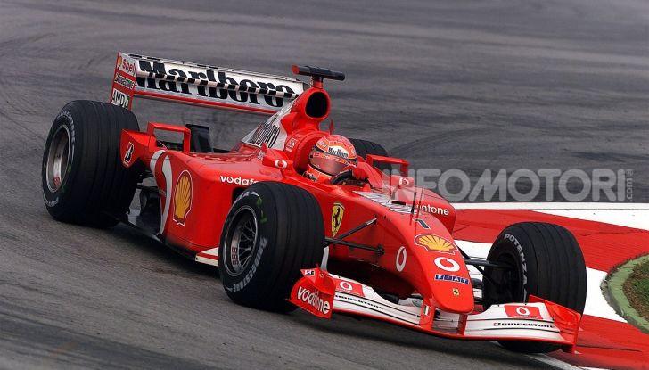 F1: ad Abu Dhabi sarà messa all'asta la Ferrari F2002 di Michael Schumacher - Foto 3 di 10