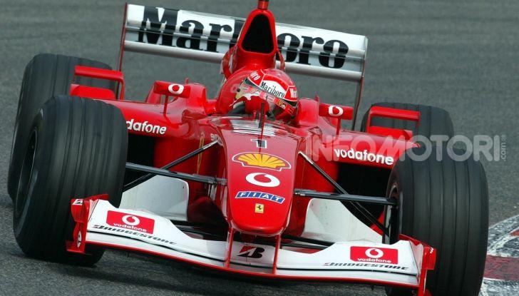 F1: ad Abu Dhabi sarà messa all'asta la Ferrari F2002 di Michael Schumacher - Foto 2 di 10