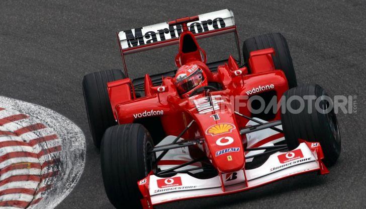 F1: ad Abu Dhabi sarà messa all'asta la Ferrari F2002 di Michael Schumacher - Foto 5 di 10