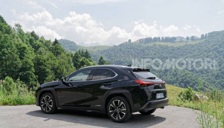 Lexus UX estetica stile efficienza aerodinamica