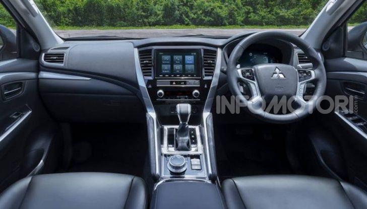 Nuovo Mitsubishi Pajero Sport 2020, linee aggressive e meccanica da fuoristrada - Foto 3 di 6