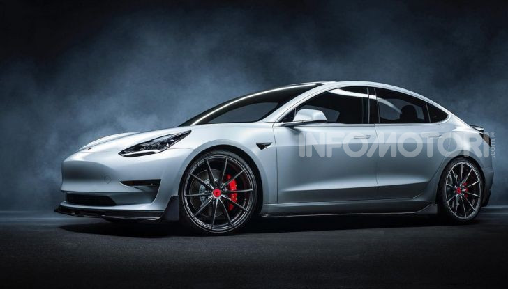 Tesla Model 3 by Vorsteiner: modifiche estetiche a profusione - Foto 5 di 8