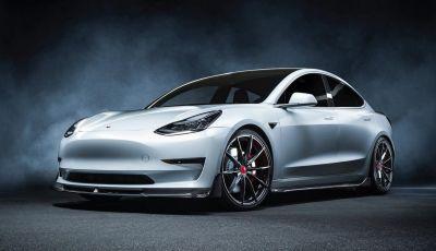 Tesla Model 3 by Vorsteiner: modifiche estetiche a profusione
