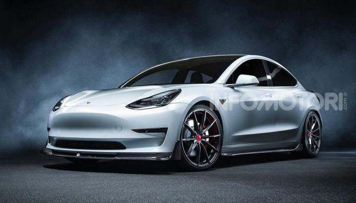 Tesla Model 3 by Vorsteiner: modifiche estetiche a profusione - Foto 1 di 8