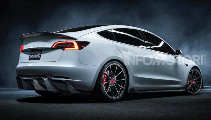Tesla Model 3 by Vorsteiner: modifiche estetiche a profusione - Foto 2 di 8