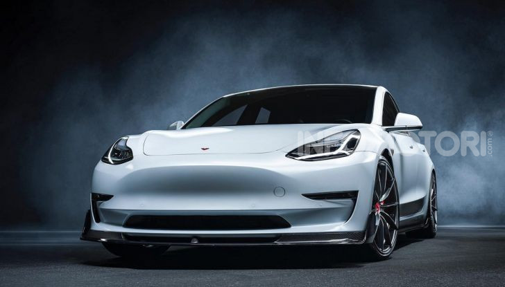 Tesla Model 3 by Vorsteiner: modifiche estetiche a profusione - Foto 8 di 8